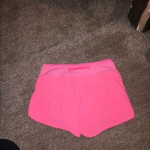 lululemon athletica Shorts - Bright pink lulu shorts